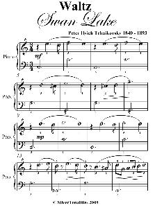 waltz from swan lake easiest piano sheet music