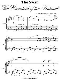 the swan easy piano sheet music