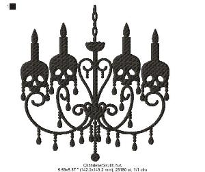 chandelier skulls