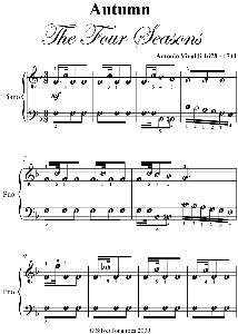 autumn four seasons easy piano sheet music