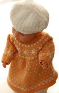 DollKnittingPatterns 0148D FREDRIKKE - Kjole, Strømpebukse, Lue, Sko og Skjerf-(Norsk) | Crafting | Knitting | Other