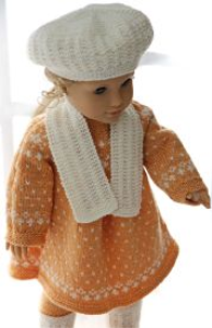 DollKnittingPattern0148D FREDRIKKE - Dress, Pants, Shoes, Hat, and Scarf-(English) | Crafting | Knitting | Other