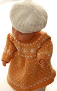 DollKnittingPatterns 0148D FREDRIKKE - Kleid, Unterhose, Schuhe, Mütze und Schal-(Deutsch) | Crafting | Knitting | Other