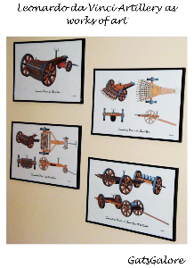 da vinci 10 and 42 artillery prints