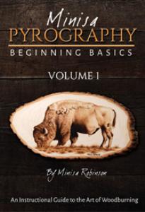 minisa pyrography beginning basics of woodburning: volume 1