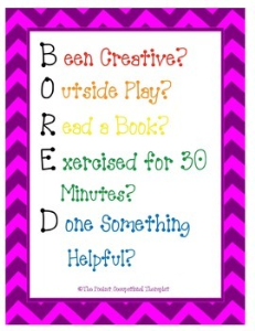 BORED Activity Cards | Other Files | Everything Else
