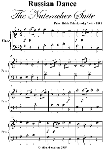 russian dance nutcracker easy piano sheet music