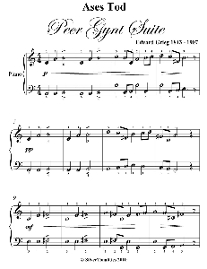 ases tod peer gynt suite easy piano sheet music