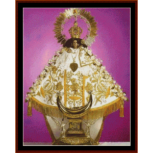 Virgin of Talpa cross stitch pattern by Cross Stitch Collectibles | Crafting | Cross-Stitch | Wall Hangings