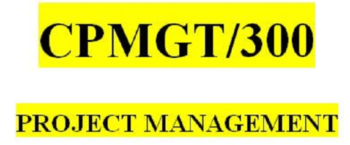 First Additional product image for - CPMGT 300 Week 1 Learning Team Charter