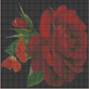 Ruze a motyl (Rose and the butterfly) | Crafting | Cross-Stitch | Wall Hangings