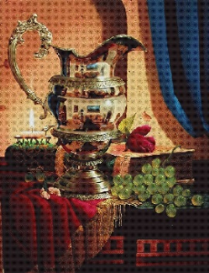 Zatisi se dzbanem (Still-life with a jug) | Crafting | Cross-Stitch | Wall Hangings