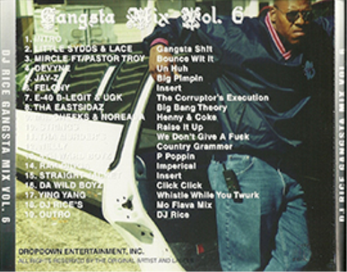 First Additional product image for - Dj-Rice-Gangsta-Mix-Vol.#6