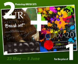 2 in 1: 20 Fur Brushes pack + 50 HQ spatter and blot brushes for Photoshop | Other Files | Photography and Images