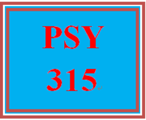 First Additional product image for - PSY 315 Week 1 Week One Practice Problems Worksheet