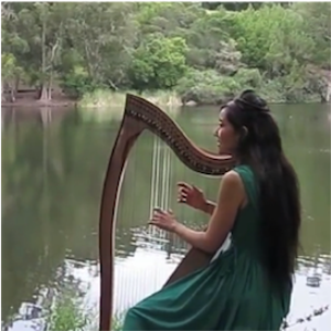 """Willow Tree (I Will Bow and Be Simple)"" Sheet Music (Arrangement for Celtic harp and soprano voice in C major) 