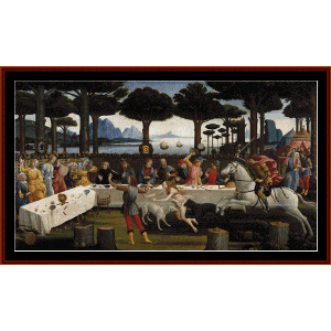 Art in Tuscany - Botticelli cross stitch pattern by Cross Stitch Collectibles | Crafting | Cross-Stitch | Wall Hangings