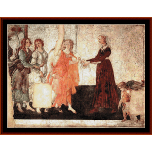 Venus and the Graces - Botticelli cross stitch pattern by Cross Stitch Collectibles | Crafting | Cross-Stitch | Wall Hangings