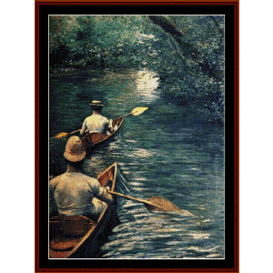 the canoes, 1878 - caillebotte cross stitch pattern by cross stitch collectibles