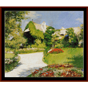 Farmer's House in Trouville - Caillebotte cross stitch pattern by Cross Stitch Collectibles | Crafting | Cross-Stitch | Wall Hangings
