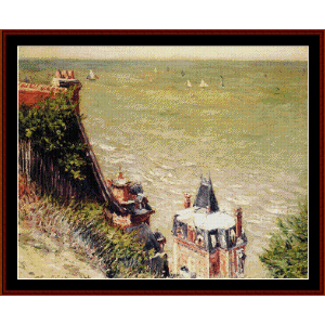 The Pink Villa at Trouville - Caillebotte cross stitch pattern by Cross Stitch Collectibles | Crafting | Cross-Stitch | Other