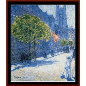 53rd st., may, ny - childe-hassam cross stitch pattern by cross stitch collectibles