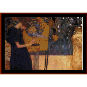 Music - Klimt cross stitch pattern by Cross Stitch Collectibles | Crafting | Cross-Stitch | Wall Hangings