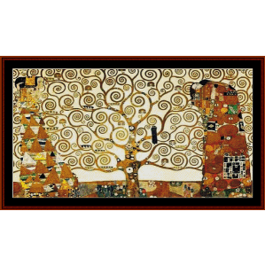 Tree of Life Frieze - Klimt cross stitch pattern by Cross Stitch Collectibles | Crafting | Cross-Stitch | Wall Hangings