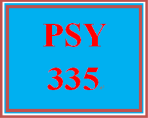psy 335 entire course