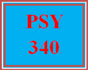 psy 340 week 1 week one tutorial and quiz
