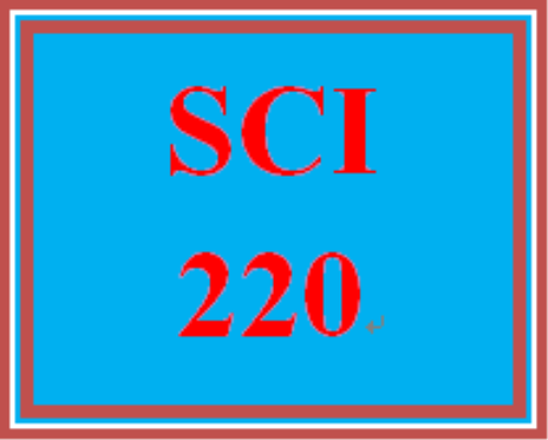 First Additional product image for - SCI 220 Entire Course