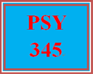 PSY 345 Week 1 Week One Worksheet | eBooks | Education