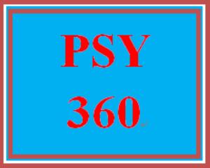 PSY 360 Week 3 One minute paper | eBooks | Education