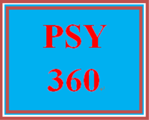 PSY 360 Week 4 One minute paper | eBooks | Education