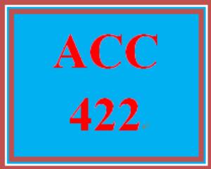 ACC 422 Week 2 Textbook Problems | eBooks | Education