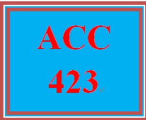 ACC 423 Week 4 Textbook Problems | eBooks | Education