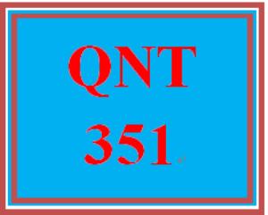 QNT 351 Week 2 Connect Problem Set | eBooks | Education