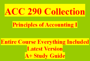ACC 290 Weeks 1-5 Assignments WileyPLUS Assignment and Final Exam | eBooks | Education