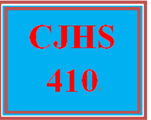 CJHS 410 Entire Course | eBooks | Education