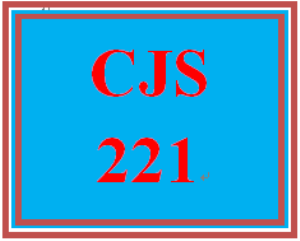 CJS 221 Entire Course | eBooks | Education