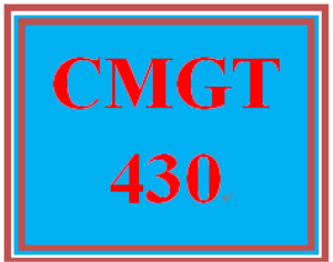CMGT 430 Entire Course | eBooks | Education