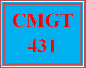 CMGT 431 Entire Course | eBooks | Education