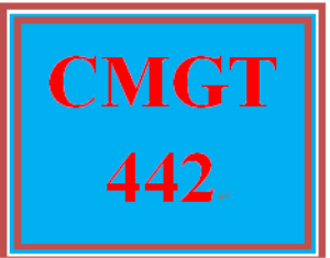 CMGT 442 Entire Course | Crafting | Cross-Stitch | Wall Hangings