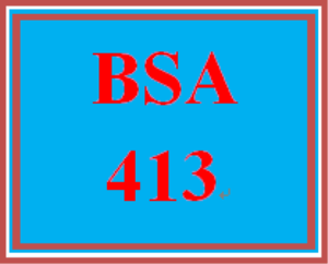 BSA 413 Entire Course | eBooks | Education
