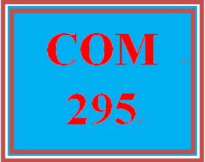 COM 295 Week 4 Persuasive Message   eBooks   Education