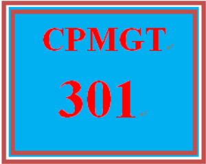 CPMGT 301 Week 5 Integrated Initiation and Planning Discussion | eBooks | Education