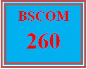 bscom 260 entire course