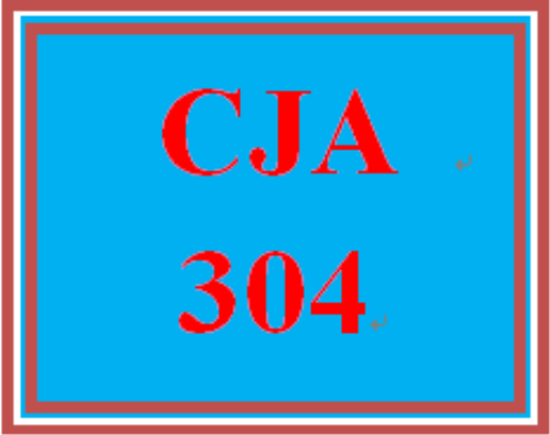 First Additional product image for - CJA 304 Entire Course