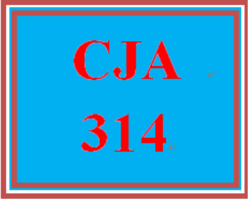 First Additional product image for - CJA 314 Entire Course
