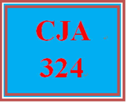 First Additional product image for - CJA 324 Week 3 Weekly Summary